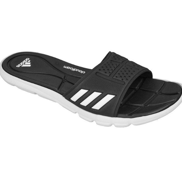 450ab44dd0f5 NEW Adidas Adipure Black white Cloudfoam Slides 7